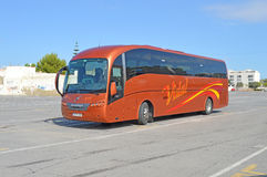 New Bus Service. A new bus service with luxury coaches comes to Santa Pola in Spain Stock Photo