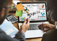 New Business Achievement Organization Progress Concept Royalty Free Stock Photography