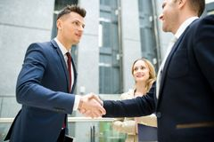New business acquaintance stock photo