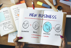 New Business Begin Launch Growth Success Concept Stock Photos