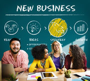 New Business Begin Launch Growth Success Concept Stock Images