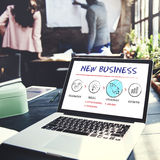 New Business Begin Launch Growth Success Concept. New Business Begin Launch Growth Success stock image