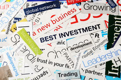 New business best investment Royalty Free Stock Photo