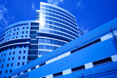 New business centre on blue sky Stock Photos
