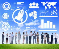 New Business Chart Innovation Teamwork Global Business Concept Royalty Free Stock Photography