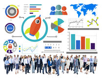 New Business Chart Innovation Teamwork Global Business Concept Royalty Free Stock Images