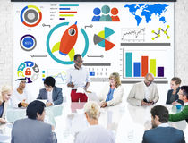 New Business Chart Innovation Teamwork Global Business Concept Stock Photography