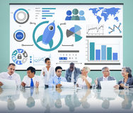 New Business Chart Innovation Teamwork Global Business Concept Stock Image