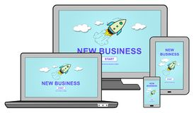 New business concept on different devices Stock Photo