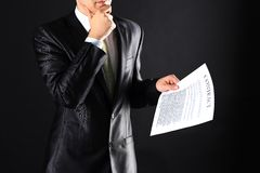 New business contract Stock Images