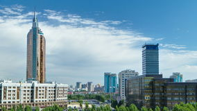 New business district timelapse from roof in the capital of Kazakhstan in Astana. stock footage