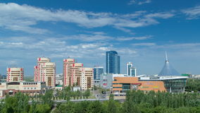 New business district timelapse from roof in the capital of Kazakhstan in Astana. stock video