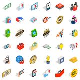 New business icons set, isometric style. New business icons set. Isometric set of 36 new business vector icons for web isolated on white background Royalty Free Stock Images