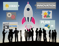 New Business Innovation Strategy Technology Ideas Concept.  royalty free stock photos