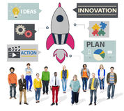 New Business Innovation Strategy Technology Ideas Concept Royalty Free Stock Photos