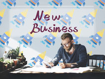 New Business Launch Innovation Startup Concept.  royalty free stock photography