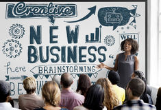 New Business Launch Start up Vision Concept Stock Images