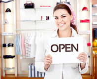 New business owner Stock Image