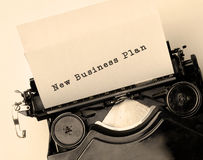 New Business Plan Royalty Free Stock Photos