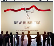 New Business Ribbon Cutting Celebration Event Concept Royalty Free Stock Images