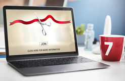 New Business Ribbon Cutting Celebration Event Concept Royalty Free Stock Photography