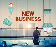 New Business Start up Fresh Ideas Vision Concept.  stock photography