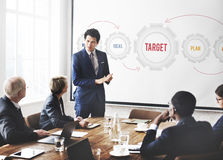 New Business Strategy Target Concept Stock Image