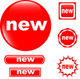 NEW Button Web Glossy Icon Stock Photography