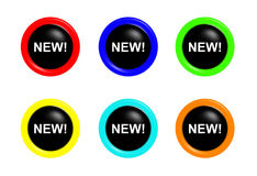 Set of new buttons Stock Image