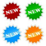 New Buttons Set Stock Photos