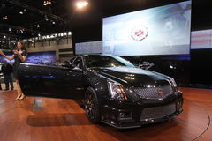 New Cadillac CTS-V coupe. Cadillac exposition at Chicago auto show 2011 Stock Photo
