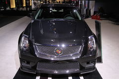 New Cadillac CTS-V Wagon Black Diamond. Cadillac exposition at Chicago auto show 2011 Stock Photography