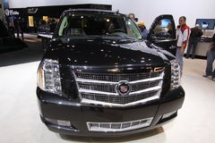New Cadillac Escalade HYBRID. Cadillac exposition at Chicago auto show Stock Image