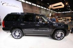 New Cadillac Escalade HYBRID. Cadillac exposition at Chicago auto show 2011 Royalty Free Stock Photo