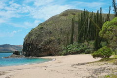New Caledonia coastal landscape beach and cliff Stock Photo