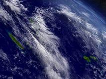 New Caledonia, Fiji and Vanuatu from space Stock Images