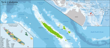 New Caledonia map Royalty Free Stock Image