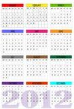 New calendar 2012 Stock Image