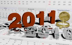 The new calender year 2011 Royalty Free Stock Image
