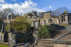 New Calton Burial Ground in Edinburgh Royalty Free Stock Image
