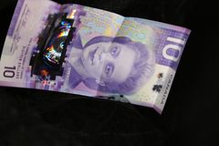 Money news story! Canadian currency. The new Canadian bill has just been launched out for 2019! The bill features the famous Viola Desmond on the Canadian note stock photo