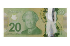 New 20 canadian dollar bill Royalty Free Stock Photography