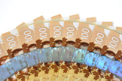 New Canadian one hundred bill Royalty Free Stock Photo