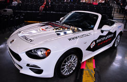 New car as prize for lottery winner during the Viktor Drobysh 50th year birthday concert at Barclay Center Royalty Free Stock Photo