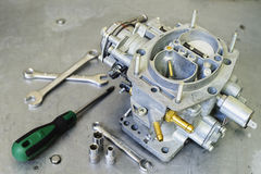 New car carburetor at shallow depth of field Royalty Free Stock Images