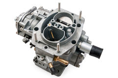 New car carburetor. On a white background Royalty Free Stock Photo