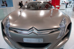New Car Concept: Citroen Metisse, Paris Showroom. Front hood view of the Citroen Metisse concept car at the Champs Elysee, Paris, automobile showroom Stock Images