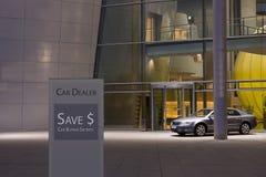New car dealership. Prestige new cars awaiting for customers Stock Photos