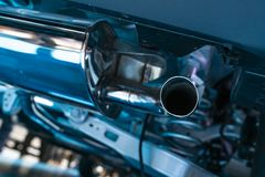 New car exhaust pipes. 1 stock photos