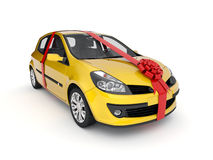 The new car in a gift Stock Photos